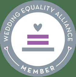 Badge: Wedding Equality Alliance Member