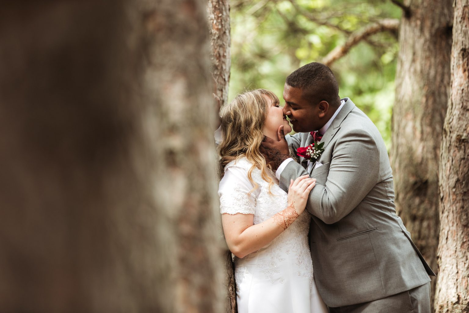 Summer wedding in Grand Rapids, MI.