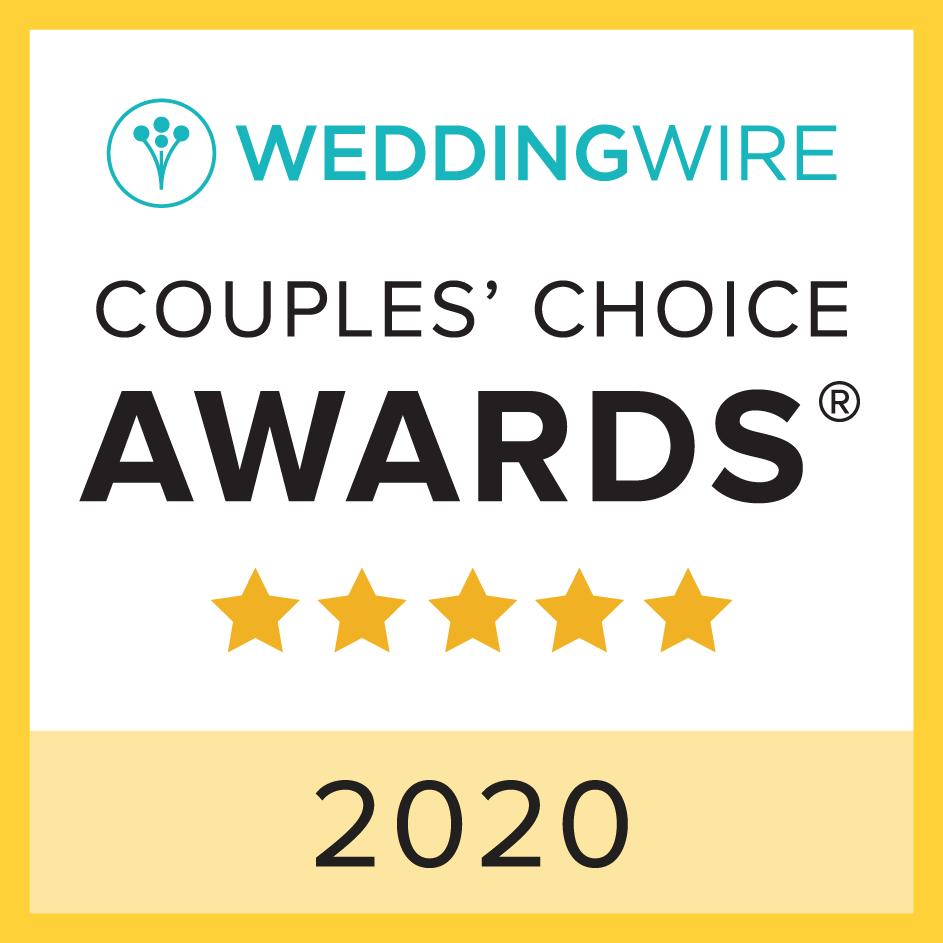 Badge: WeddingWire Couples' Choice Award Winner 2020