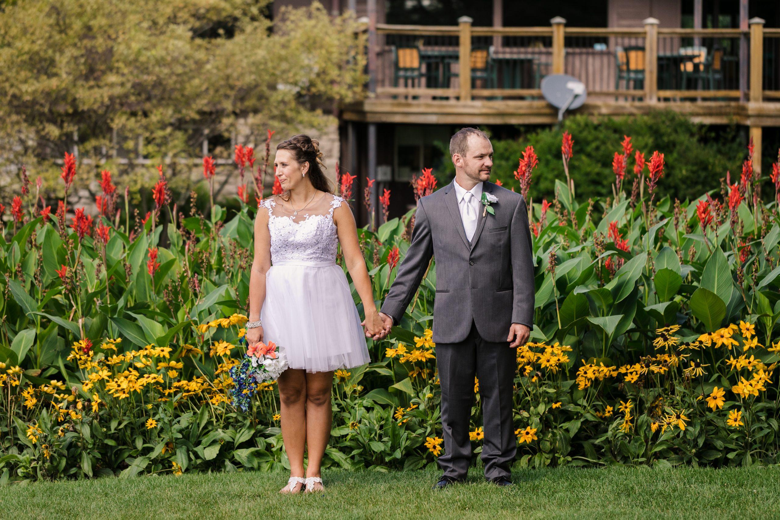 Hilary and Jason, wedding portrait in Midland, MI.